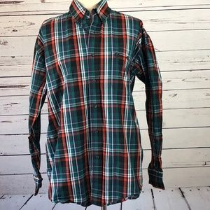 Wrangler Medium George Strait Cowboy Plaid Shirt M